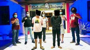 Tim Resmob Polres Tomohon berhasil mengamankan dua lelaki asal Kabupaten  Minahasa Selatan, Sulut, masing-masing BM alias Bayu (21) dan RT alias Randi.