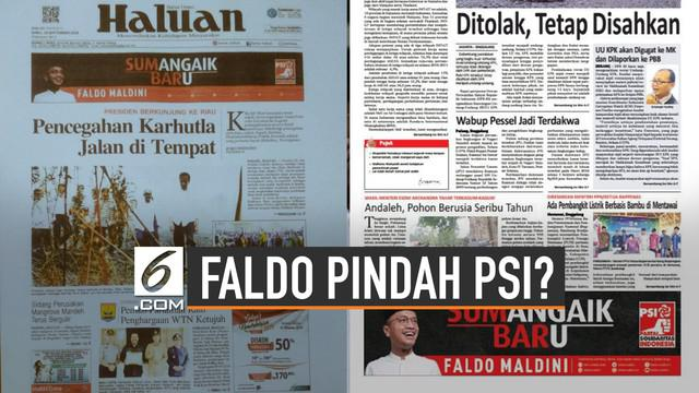 Ramai dibicarakan terkait kabar Faldo Maldini pindah dari PAN ke PSI. Wasekjen PAN ini belum beri tanggapan terkait kabar kepindahannya.