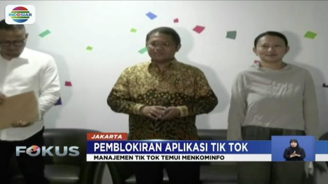 Datangi kantor Kementerian Kominfo, Senior Vice Presiden Tik Tok berjanji bersihkan konten negatif dan batasi usia minumum pengguna.