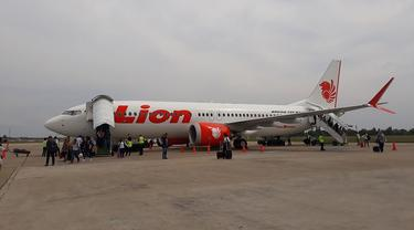 Boeing 737 MAX 8 milik Lion Air (foto: Camelia)