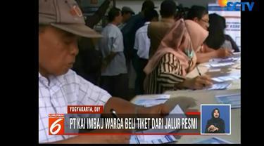 Tiket KA Yogyakarta hampir habis, PT KAI sediakan tiket tambahan mencapai 8344 buah.