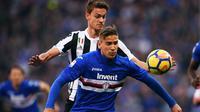 6. Gaston Ramirez (Sampdoria) - Gelandang asal Uruguay ini menjadi pesepak bola di Serie A lainnya yang berhasil menciptakan hat-trick assist. Pemain berusia 27 tahun itu melakukannya saat Sampdoria menang 3-1 atas Fiorentina. (AFP/Marco Bertorello)