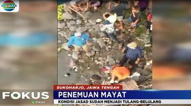 Jenazah malang itu ditemukan seorang pemulung yang sedang mengais barang bekas di pinggir Sungai Bengawan Solo.