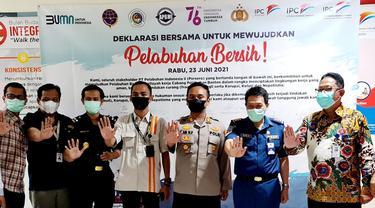 Pelindo II Dan KSKP Deklarasi Pelabuhan Bersih Pungli (Rabu, 23/06/2021). (Dokumentasi KSKP Banten).