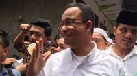 Anies Baswedan di Cengkareng. (Liputan6.com/Lizsa Egeham)