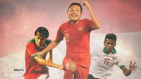Timnas Indonesia - Gelandang Timnas Indonesia: Adam Alis, Evan Dimas, Zulfiandi (Bola.com/Adreanus Titus)