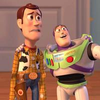 Woody dan Buzz Lightyear dalam Toy Story 2. (smosh.com)