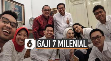 Sebanyak 7 milenial dipilih jadi staf khusus Jokowi. Gaji staf khusus presiden diatur dalam Perpres No.144 Th.2015.