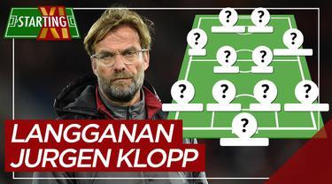Berita motion grafis starting XI pemain langganan Jurgen Klopp, tidak ada Mohamed Salah.