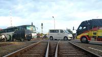 Perlintasan kereta api di Sidareja Kabupaten Cilacap. (Foto: Liputan6.com/Muhamad Ridlo)