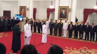 Jokowi melantik Gubernur NTB terpilih (Liputan6.com/Hanz Jimenez Salim)