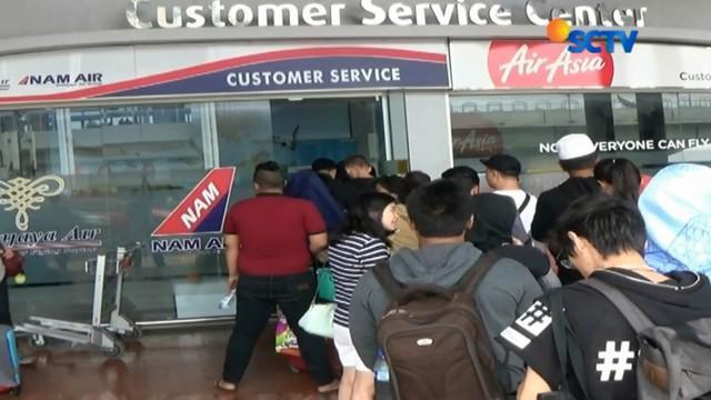 Penutupan Bandara Ngurah Rai juga berimbas pada terganggunya aktivitas penerbangan di Bandara Sultan Muhammad Salahuddin, Bima, NTB.