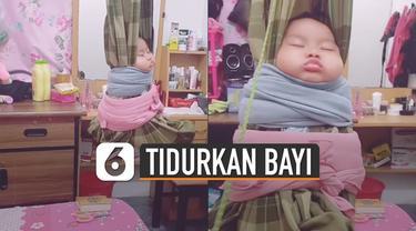 Bukannya ketakutan, sang bayi malah terlelap dan nyaman.
