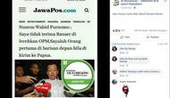 [Cek Fakta] Nusron Wahid Tantang OPM, Benarkah?
