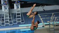 Indonesia gagal meraih medali emas loncat indah SEA Games 2017 di Kuala Lumpur, Malaysia. (Liputan6.com/Faizal Fanani)