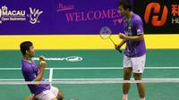 Ganda putra Indonesia, Berry Angriawan/Ryan Agung Saputra, lolos ke babak final Makau Terbuka Grand Prix Gold setelah mengalahkan unggulan kedelapan, Chen Hung Ling/Wang Chi Lin, di Tap Seac Multisport Pavilion, Makau, Sabtu (28/11/2015). (PBSI)