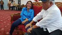 Menteri PUPR Basuki Hadimuljono bersama dengan Menteri kelautan dan Perikanan Susi Pudjiastuti. (Istimewa)