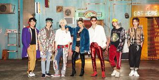 Lo Siento merupakan karya kolaborasi antara Super Junior dan Leslie Grace. Lagu ini berbahasa dan bernada ala Spanyol. (Foto: instagram.com/superjunior)