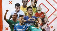 Liga 1 - Ilustrasi Para Pemain di Liga 1 (Bola.com/Adreanus Titus)