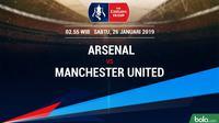 Piala FA: Arsenal Vs Manchester United (Bola.com/Adreanus Titus)