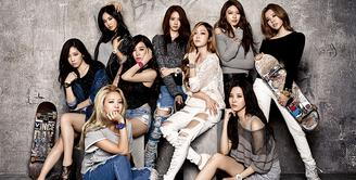 Siapa sih yang tak kenal dengan SNSD, girlband asal Korea ini merupakan girlband paling awet. SNSD sendiri merupakan kepanjangan dari Sonyeo Sidae. Sonye artinya Girls dan Sidae artinya Generasi. (Foto: Allkpop.com)