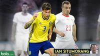 Kolom Ian Situmorang, Swedia vs Swiss. (Bola.com/Adreanus Titus)