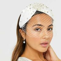 Taylor bridal embellished headband/Hello Magazine