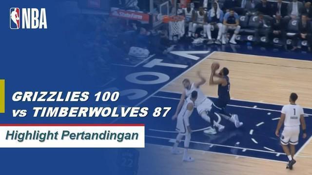 Marc Gasol memposting 26 poin dan 13 rebound untuk memimpin Timberwolves mengalahkan Grizzlies, 100 - 87.