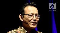 "Direktur Utama BPJS Kesehatan Fachmi Idris saat menjadi Pembicara Program acara Liputan6.com ""Inspirato"" di SCTV Tower, Jakarta, Selasa (15/5). (Liputan6.com/JohanTallo)"