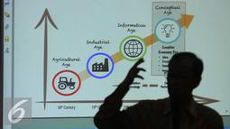Komite Ekonomi dan Industri Nasional (KEIN) tengah menyusun peta jalan (roadmap) industrialisasi 2045 bidang ekonomi kreatif dan digital, Jakarta, Kamis (6/10). (Liputan6.com/Angga Yuniar)