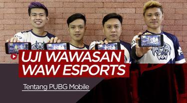 Berita video tentang WAW ESports yang mendapatkan tantangan tebak gambar soal PUBG Mobile.