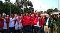 Kirab Kebangsaan berlangsung di Majalengka, Jawa Barat. (Liputan6.com/Panji Prayitno)