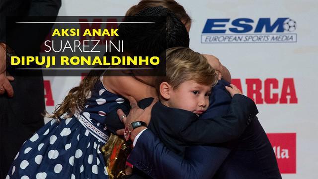 Berita video aksi anak Luis Suarez, Benjamin, yang dipuji oleh salah satu legenda hidup Barcelona, Ronaldinho.