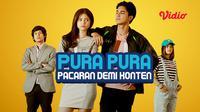 FTV SCTV Pura-Pura Pacaran Demi Konten dapat ditonton duluan di platform Vidio. (Sumber: Vidio)