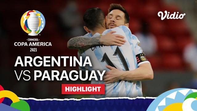 Berita video highlights Grup A Copa America 2021 antara Timnas Argentina melawan Paraguay yang berakhir dengan skor 1-0, Selasa (22/6/2021) pagi hari WIB.