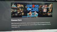 Mola TV mengajak pelanggan untuk ikut berdonasi melawan Covid-19 dengan cara berlanggan Paket Mola TV-Corona Care (Liputan6.com/ Agustin Setyo W)