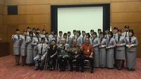 Pelepasan Peserta Program Kapal Pemuda Asia Tenggara ke-46, Kemaritiman, di Kedutaan Besar Jepang untuk Indonesia, Jakarta Pusat (Aqilah Ananda Purwanti).