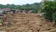 Lokasi banjir bandang dan longsor yang melanda Kecamatan Sukajaya, Kabupaten Bogor, Jawa Barat pada Rabu (1/1/2020) lalu. (Liputan6.com/Achmad Sudarno)