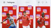 Ilustrasi - Instagram Raphael Varane, Cristiano Ronaldo, Paul Pogba (Bola.com/Adreanus Titus)