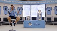 Legenda Manchester City, Paul Paul Dickov, memberi keterangan kepada awak media di Mall Summarecon Serpong, Sabtu (29/09/2019). (Bola.com/M Iqbal Ichsan)