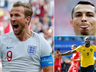 Berkat hattrick ke gawang Panama, Harry Kane berhasil memimpin klasemen sementara top scorer Piala Dunia 2018 Rusia. Berikut deretan top scorer Piala Dunia 2018 hingga matchday kedua. (Kolase foto-foto dari AP)
