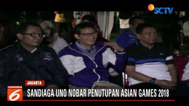 Sandiaga mengaku memilik 4 tiket VVIP acara penutupan Asian Games 2018 di Gelora Bung Karno, Senayan, Jakarta.