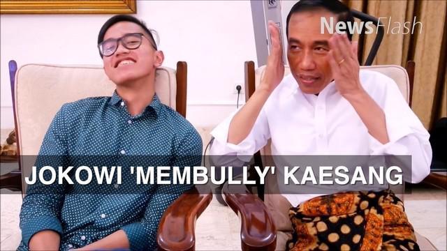 """Melalui akun sosial median putra Jokowi, Kaesang, menunggah video blogging (vlog) berjudul """" PILOK #3 Pulang Rumah Diejek Bapak"""""""