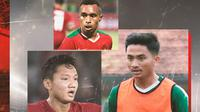 Timnas Indonesia - Syahrian Abimanyu, Todd Rivaldo Ferre, Hambali Tolib (Bola.com/Adreanus Titus)