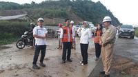 Direktur Utama PT Jasa Marga (Persero) Tbk. Desi Arryani melakukan kunjungan kerja ke proyek pembangunan Jalan Tol Balikpapan-Samarinda.
