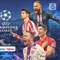 Banner Perempat Final Liga Champions (Liputan6.com/Abdillah)