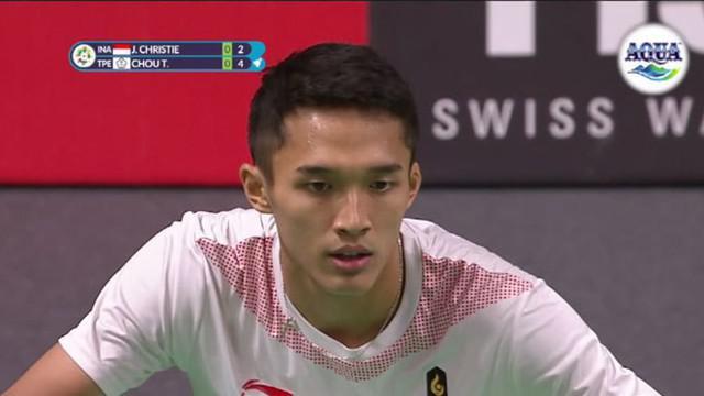 Jonatan Christie alias Jojo berhasil meraih medali emas di nomor tunggal putra bulu tangkis. Jojo mengalahkan Chou Tienchen atlet dari Chinese Taipe dengan skor 2-1.