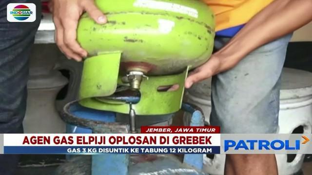 Agen gas elpiji oplosan di gerebek, gas elpiji ukuran 3 kg disuntik ke tabung 12 kg