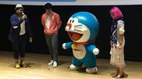Traveloka Xperience gandeng Doraemon jadi ikon promosi teranyar. (Liputan6.com/Putu Elmira)