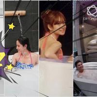 5 seleb ini unggah foto mandi barengan pasangan, bikin iri banget.